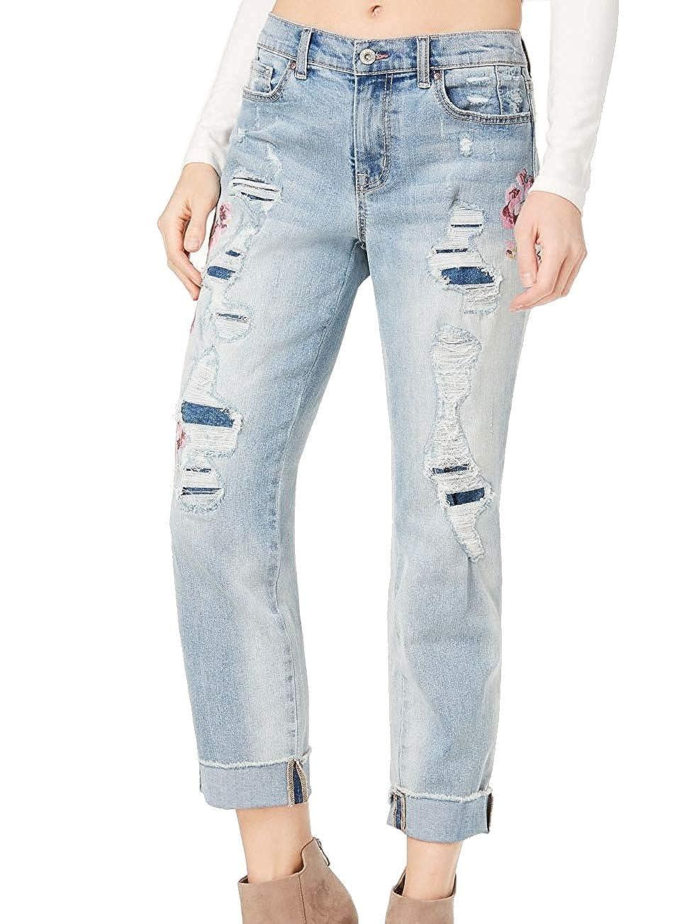 Jessica Simpson Women's Mika Ripped Boyfriend Jeans Rambler 32 bluees