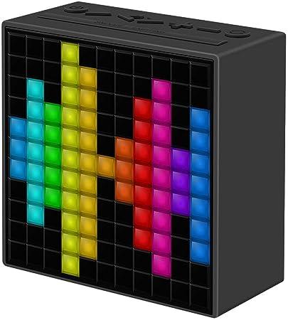 Divoom Timebox Smart Bluetooth Speaker with Alarm Clock (Black) Bluetooth Speakers at amazon