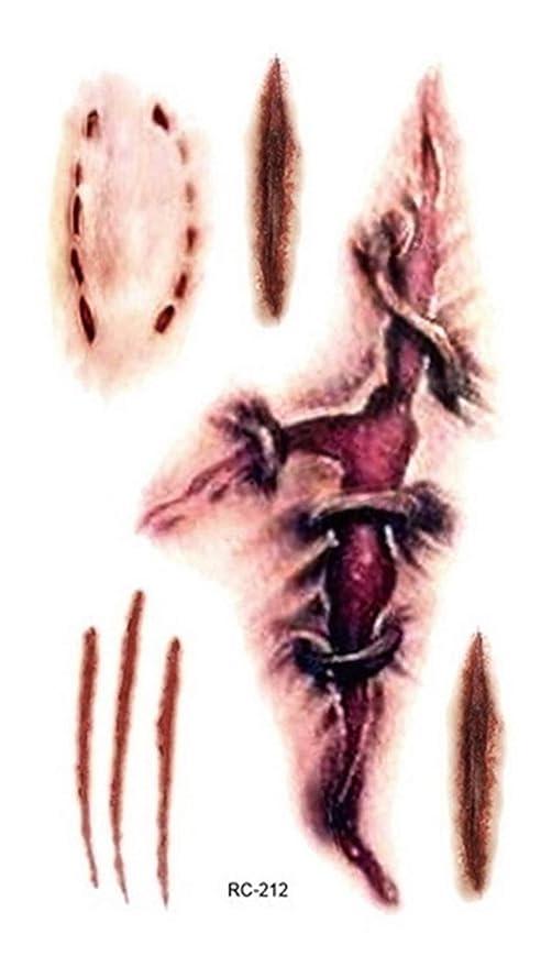 TH999 Tatuaje Partido Horrible Horror Zombi Cicatrices Tatuajes de ...