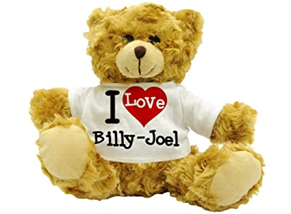 I Love Billy-Joel – Cute nombre oso de peluche regalo (22 cm de