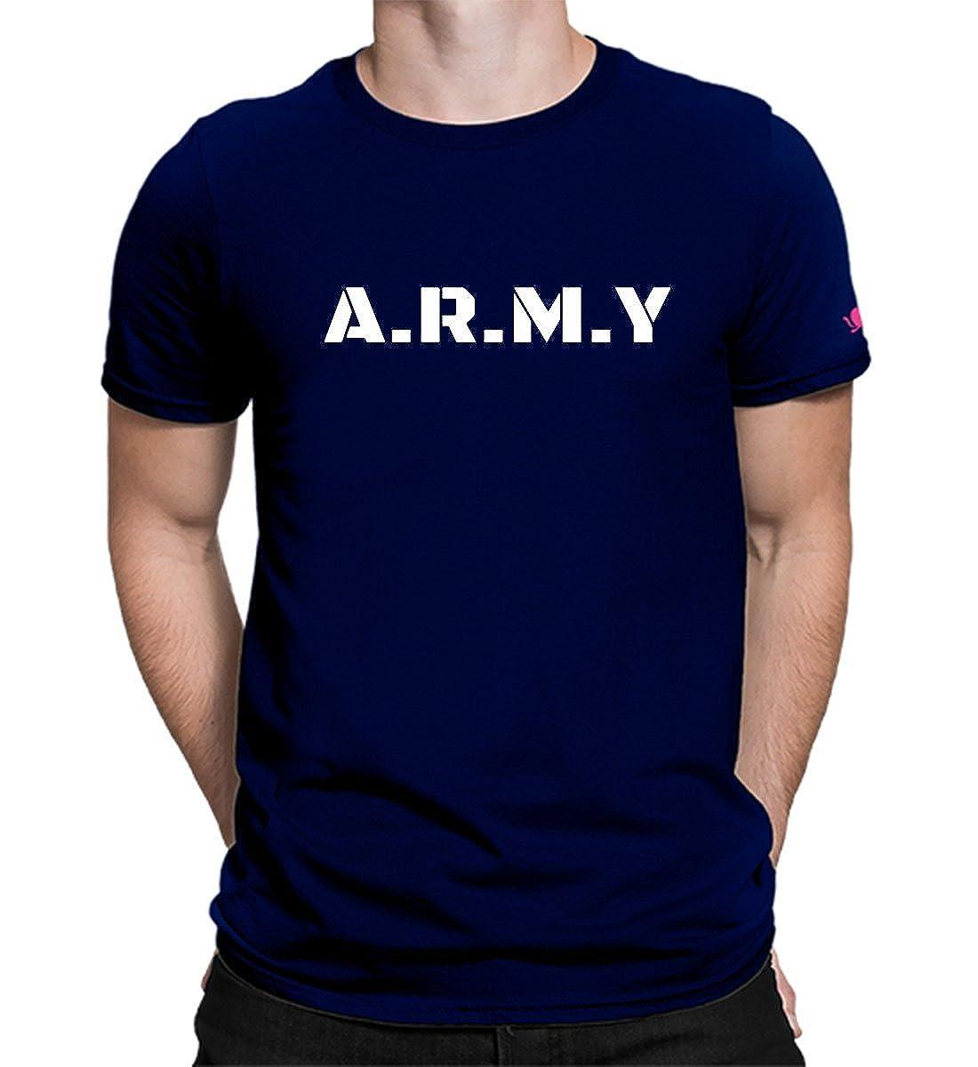 33279b38 Graphic Printed T-Shirt for Men & Women | Army Tshirt | Half Sleeve T-Shirt  | Round Neck T Shirt | 100% Cotton T-Shirt | Short Sleeve T Shirt:  Amazon.in: ...