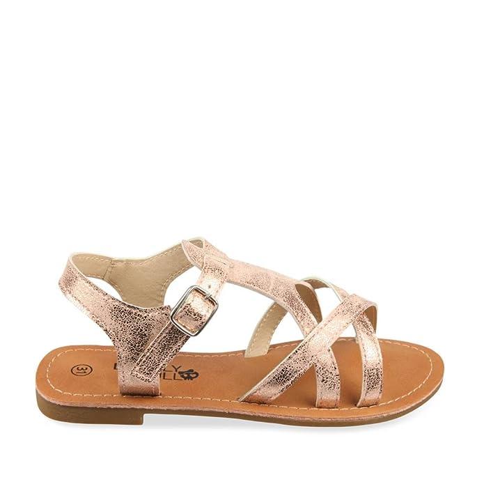 145dfccf04797 Nu-Pieds ROSE LOVELY SKULL Enfants Chaussea  Amazon.fr  Chaussures et Sacs