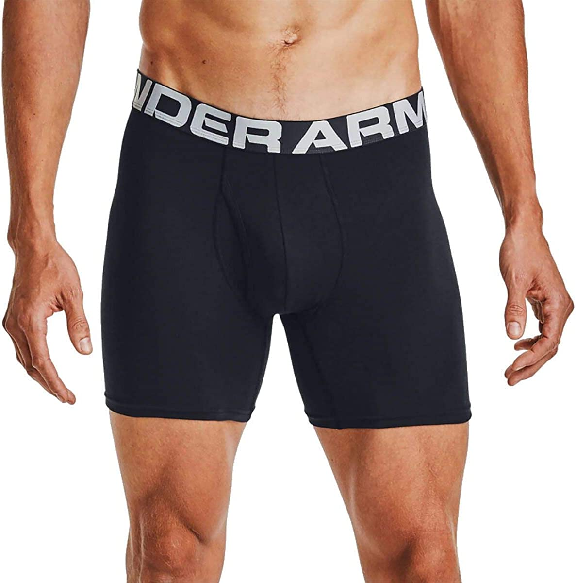 Under Armour Charged Cotton 6in Underwear - 3-Pack - Men's Black/Black/Black, XL: Clothing