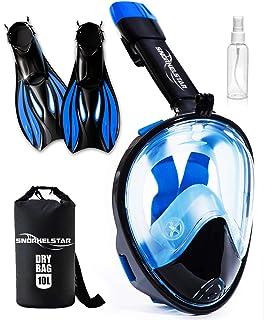 e928ea59ed2 Amazon.com   Ocean Reef Aria Full Face Snorkel Mask   Sports   Outdoors