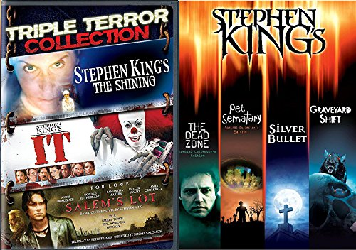 Stephen King Collection Stephen King Collection The Dead Zone, Pet Cemetery, Graveyard Shift, Silver Bullet, Movie IT / The Shining / Salem's Lot DVD the Master of Horror Feature (Biggest Bundle)