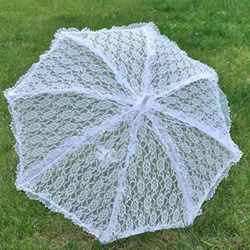 Tracfy Lace Craft Umbrella Vintage Parasol Bridal Wedding Photography Umbrella by Tracfy (Image #1)