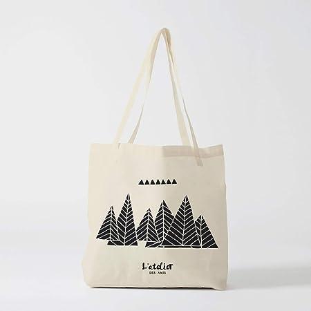 Bolso Tote Bag Mountain negro ilustración bolsa de algodón bolso de mano bolsa oferta Graphic bolsa bolsa bolso de la naturaleza: Amazon.es: Hogar