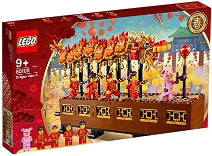 Amazon Com Lego 80102 Chinese New Year Dragon Dance 2019 Asia Exclusive Toys Games