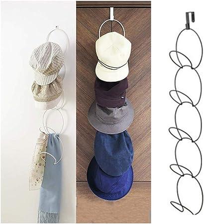 FreeLeben Colgador para Sombreros de 5 Piezas Perchero Blanco Perchero para Sombreros Bolsa para Ropa Cadena Apilable Gancho de Almacenamiento de Gran Capacidad Tipo Colgante