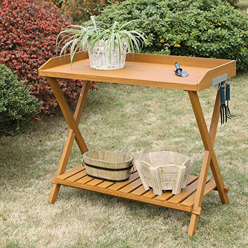 Planters and Pots Lawn Care Flower Pots Stand Potting (Birch Cedar Bridge)