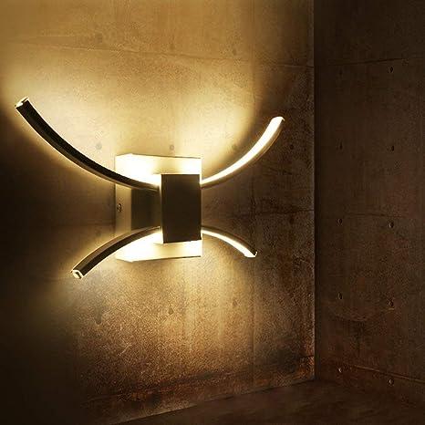 ZMH LED Lampada da parete 10W Applique da Parete per Interno moderna  elegante applique camera da letto 4000K bianco neutro per soggiorno  Corridoio ...