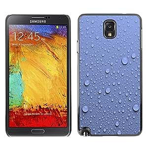 TopCaseStore / la caja del caucho duro de la cubierta de protección de la piel - Water Droplets Blue Wall Pattern Nature - Samsung Galaxy Note 3 N9000 N9002 N9005