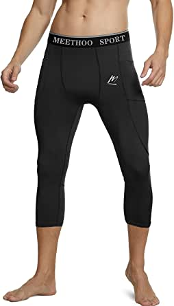 MEETWEE Men's Compression Pants, Cool Dry Running Athletic Tights Workout Leggings Long Base Layer for Gym Fitness Sports