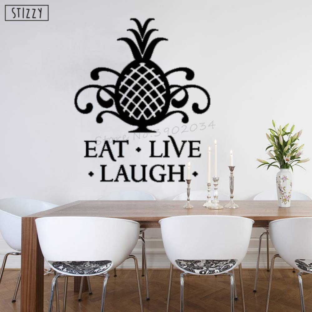 zhuziji Tatuajes de Pared Citas Modernas de Pino Eat Live Laugh ...