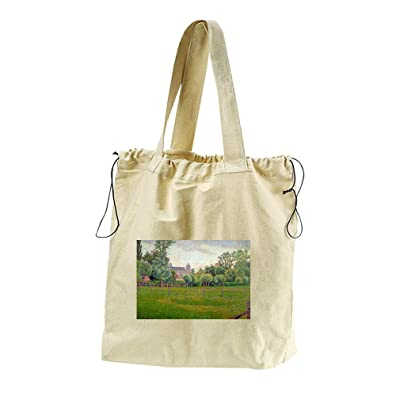 32ecb636d013 Church At Gisors (Pisarro) Canvas Drawstring Beach Tote Bag outlet ...