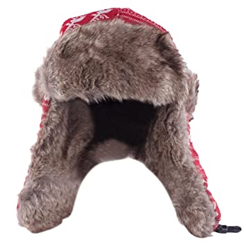 3efb2d723cd Beetest-EU-Unisex Cute Knitting Wool Headband Earflap Hat with Flat Buckle  Outdoor Winter Ski Snow Earmuff Cap Red  Amazon.co.uk  Toys   Games