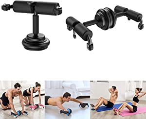 ETC Multifunctional Adjustable Ab Roller Wheel | Double Ab Workout Sit Up Assistant with Resistant Band | Core Strength Home Exercise |Abdominal Trainer | Whole Body Muscle Stimulator