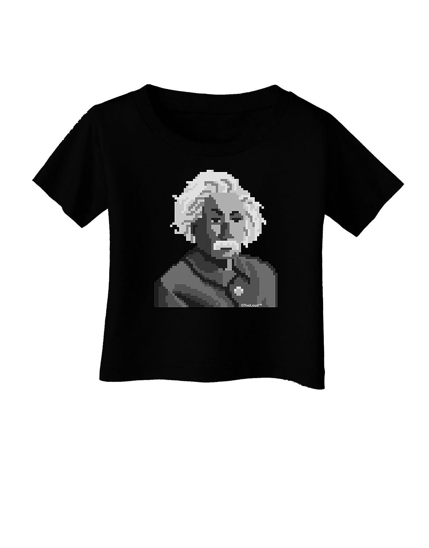 TooLoud Pixel Albert Einstein Design Infant T-Shirt Dark