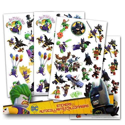 - Lego Batman Stickers - 4 Sheets of Stickers