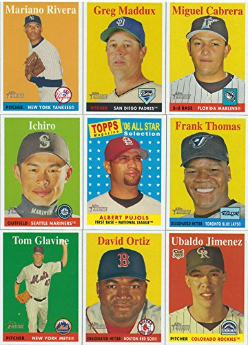 2007 Topps Heritage MLB Baseball Basic 385 Card Hand Collated Set with Stars and Hall of Famers Complete M (Mint) -