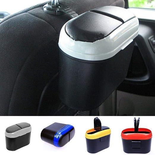 Tiowea Dual Side Lid Auto Fahrzeug Kunststoff M/ülleimer M/ülltonne Aufbewahrungsbox Kofferraumtaschen