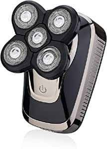 Afeitadora eléctrica KS MenS, seca y húmeda, doble uso, cinco ...