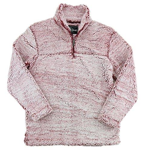 Boxercraft Adult Super Soft 1/4 Zip Sherpa Pullover-Snowy Garnet-Small