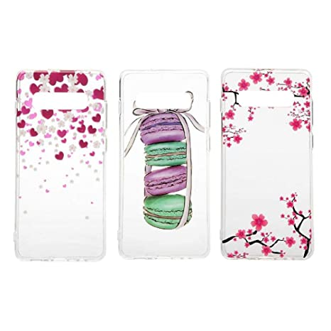 3X Funda para Samsung Galaxy S10 Plus, Case Flores Carcasa ...