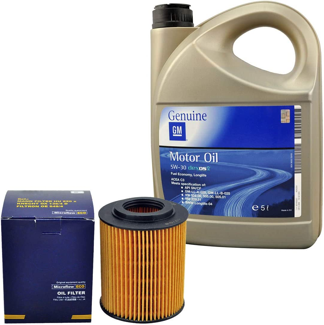 Inspektionspaket Sct Ölfilter 5 Liter Original Gm Motoröl 5w30 Dexos 2 Auto