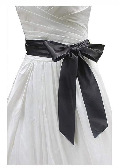 253707a4811 Wedding satin sash belt for special occasion ddress bridal sash (Black)