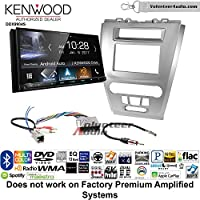 Volunteer Audio Kenwood DDX9904S Double Din Radio Install Kit with Apple CarPlay Android Auto Bluetooth Fits 2010-2012 Fusion (Silver) (Not for factory amplified systems)