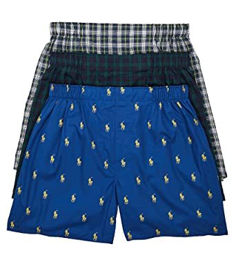 9e8169458053 Polo Ralph Lauren Classic Fit 100% Cotton Woven Boxers - 3 Pack (LCWBH3)