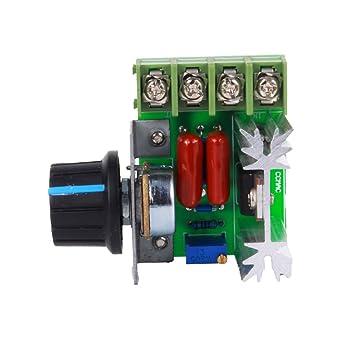 50-220V 2000W SCR Spannungsregler Temperatur Dimmer Drehzahlsteller Controlle DE