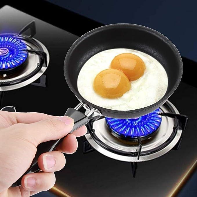 Sartén de huevo frito de cerámica con recubrimiento de titanio antiadherente Sartén de 9,5 pulgadas de cobre