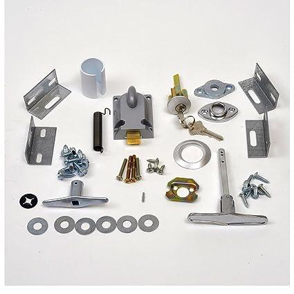 Amazoncom Garage Door Lock Cylinder T Handle Kit Home Improvement