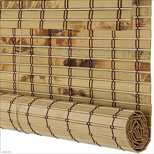 WUFENG-zhulian Roll Up Blind Bamboo Curtain Sunscreen Shade Waterproof Corrosion Resistant Cut Off Outdoor