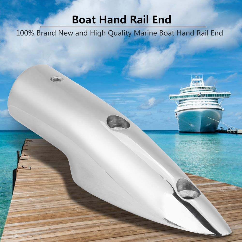 """Pack of 2 Stainless Steel Boat Hand Rail Fitting 1/"""" Rectangle Stanchion Base"""