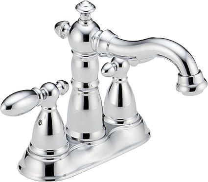 Delta Faucet 2555-MPU-DST Victorian Two Handle Centerset Bathroom ...