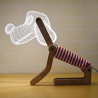 Uonlytech 3D Puppy en forma de luz de noche para niños 10V-220V ...