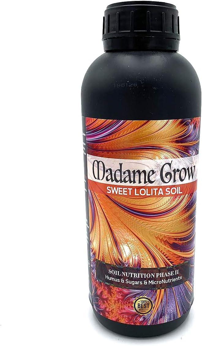 MADAME GROW / Abono o Fertilizantes Orgánico para Cultivar Marihuana o Cannabis/Sweet Lolita Soil/Azúcares y Humus/Microelementos/Alimento/Energía/Mejor Sabor (1 litro)