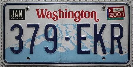 Estados Unidos Matrícula Washington ~ US Matrícula License Plate ~ Cartel de chapa: Amazon.es: Coche y moto