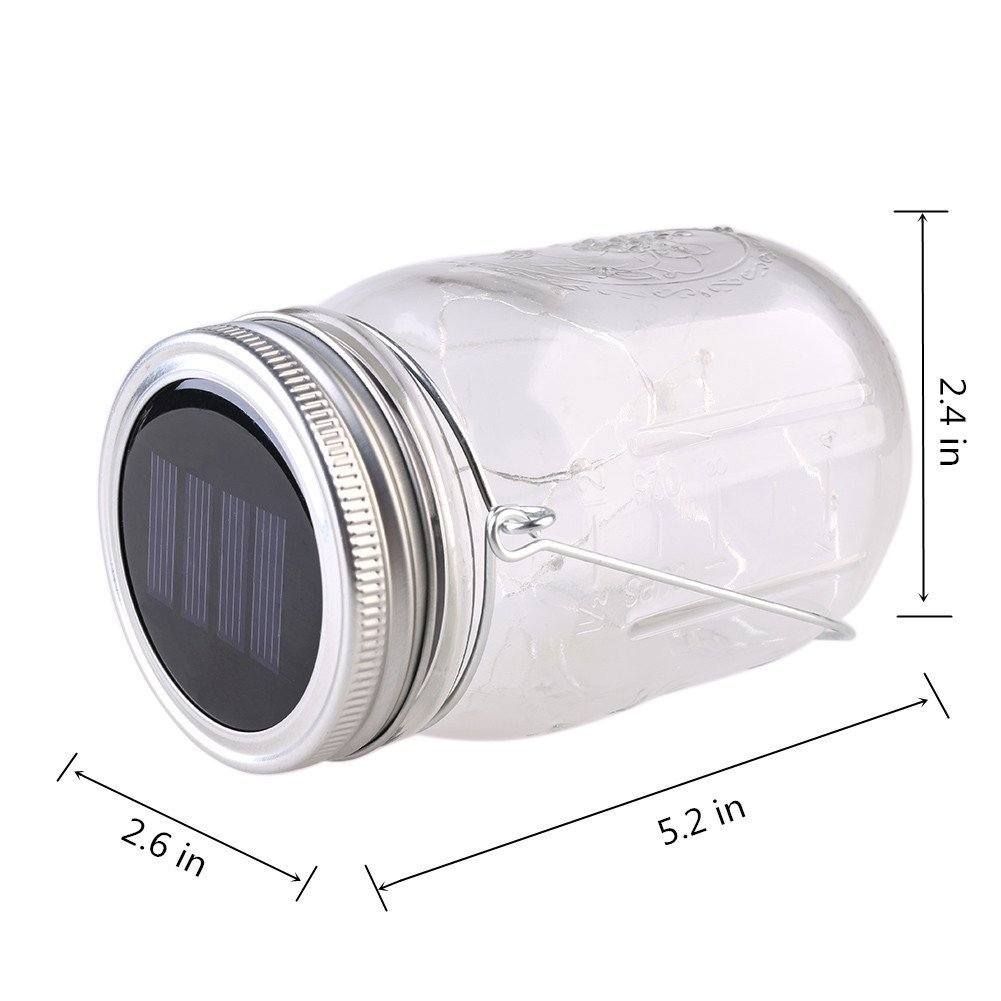 My Camera Hungers For Solar Battery >> Amazon Com Mason Jar Lights Solar Powered 10 Led Jar Light And