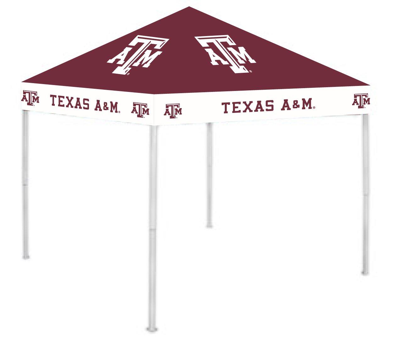Rivalry RV395-5000 Texas Aand M Canopy B003HLOTYW 9 x 9|テキサスA&M大学アギーズ テキサスA&M大学アギーズ 9 x 9