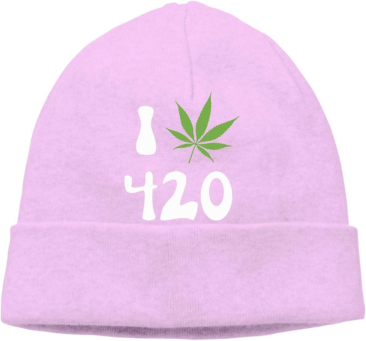 Unisex I Love 420 Soft Knit Beanie Caps Soft Hat