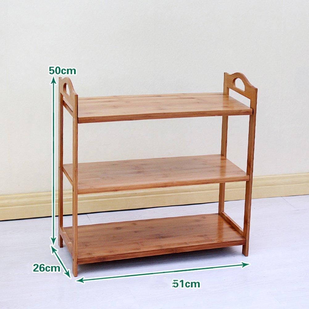 YQ WHJB Estante del Zapato de bambú,Multicapa Almacenaje del Zapato,Multifunción Organizadores de Zapatos Dormitorio Puerta de Entrada Montaje Estante del almacenaje-A