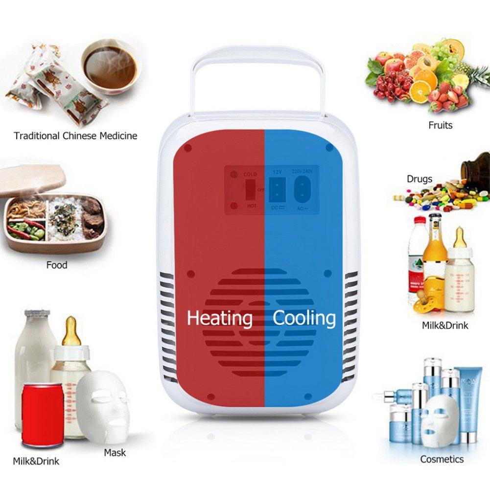 Portable Icebox Travel box Auto di riscaldamento e raffreddamento mini frigo ufficio auto o barca 4L 12/V raffreddamento /& scaldino frigorifero cucina riscaldamento elettrico mini frigo per casa