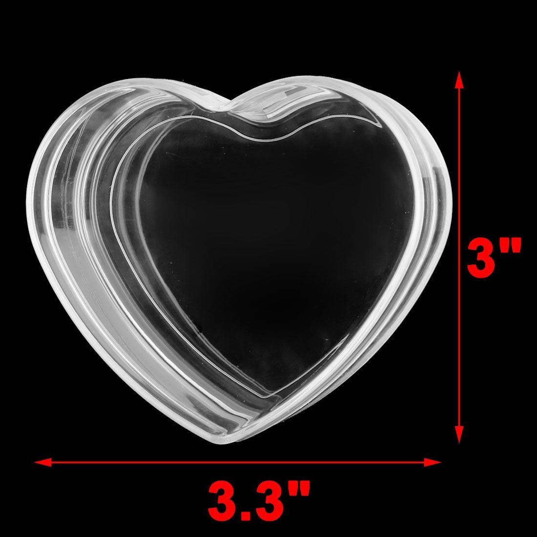 Amazon.com : eDealMax Corazón plástico de vacaciones el día de Navidad en Forma de caja del Caramelo Caso chuchería de 5pcs Claro : Sports & Outdoors