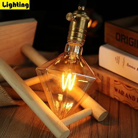 ZMH Vintage Retro Bombilla de Edison bombilla LED E27 ST64 4W Blanco Cálido 3000K Incandescente Equivalente