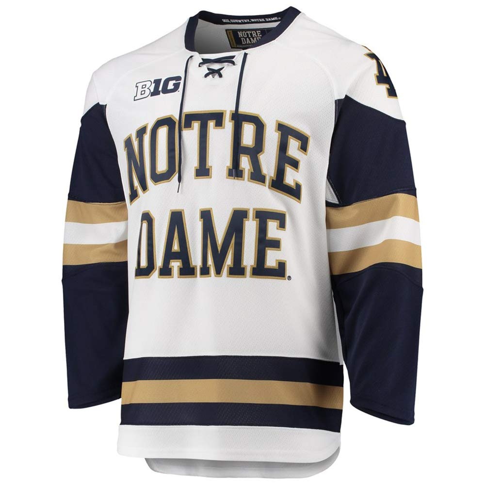 the best attitude cc09f 23529 Anfu Custom Notre Dame Men's Replica College Hockey Jersey ...