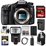 Sony Alpha A77 II Wi-Fi Digital SLR Camera Body with 64GB Card + Battery + Charger + Backpack + Flash + Kit For Sale